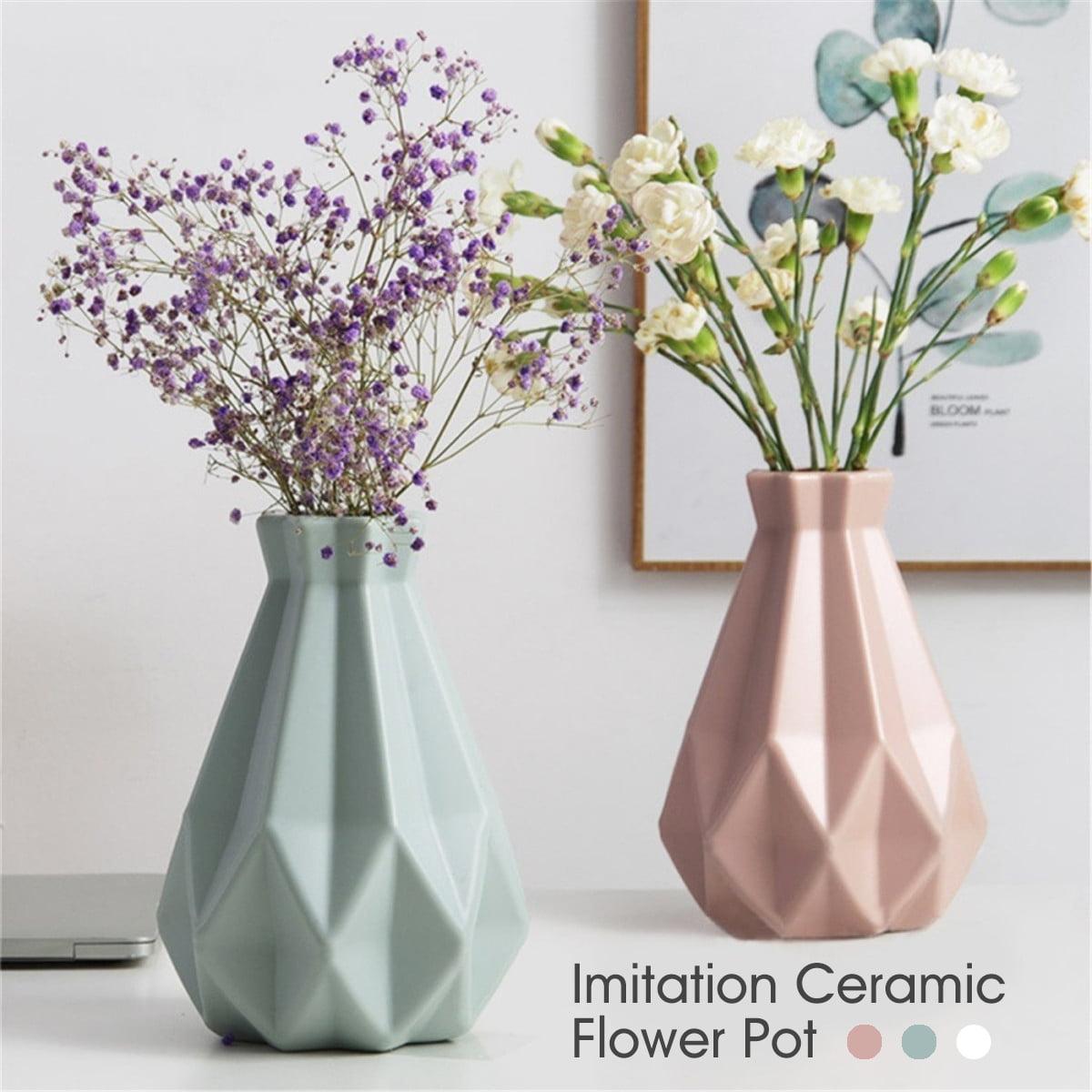 Origami Baskets Vase Imitation Ceramic Plastic Flower Pot Home Decoration Decor