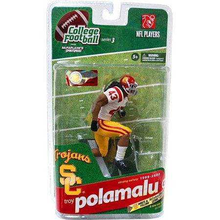 finest selection f601d bbd15 McFarlane Toys Series 3 Troy Polamalu Action Figure [White Jersey]