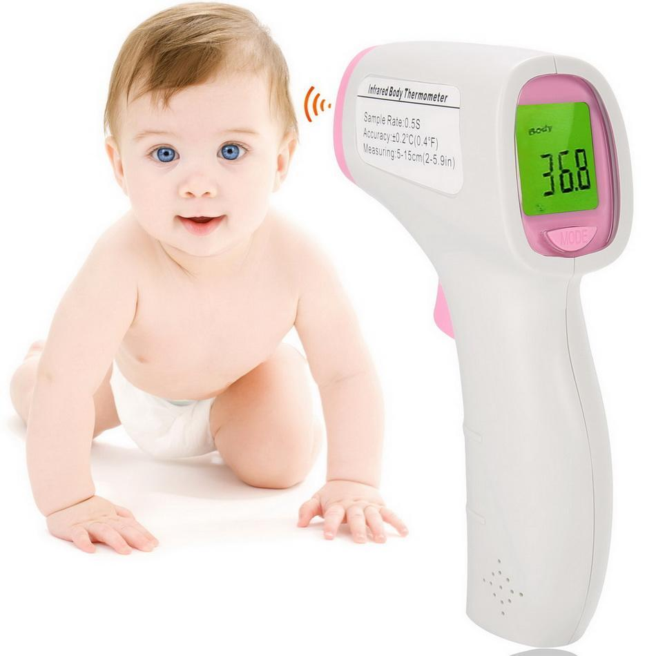 Digital Medical Infrared Forehead and Ear Thermometer for Baby ,Kids and Adults with Fever Indicator CE and FDA Approved