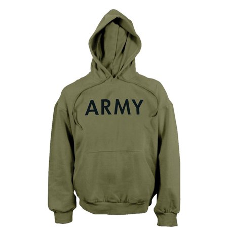 Army Logo Hooded Sweatshirt - Army Hooded Pullover Sweatshirt