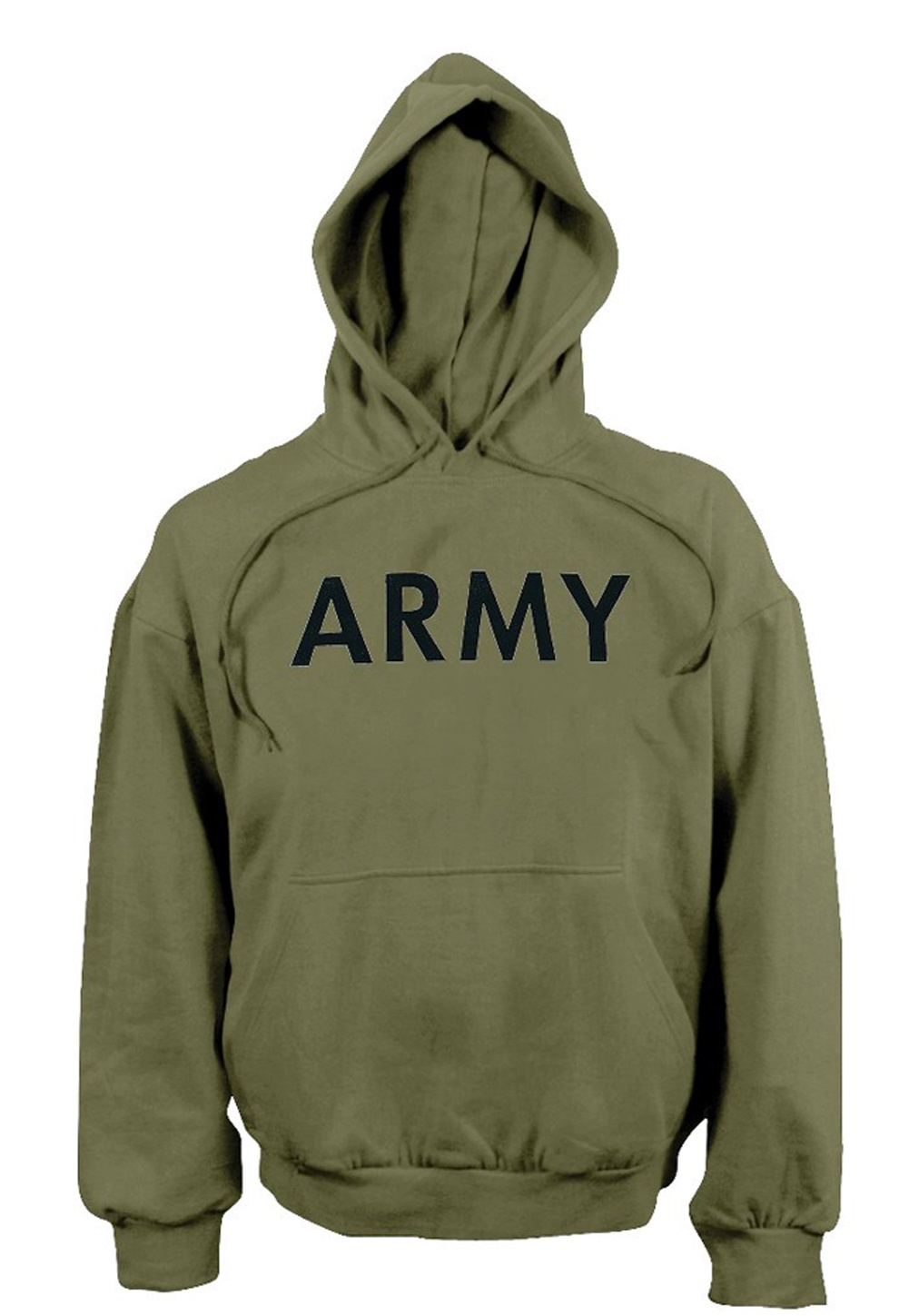 Army Hooded Pullover Sweatshirt