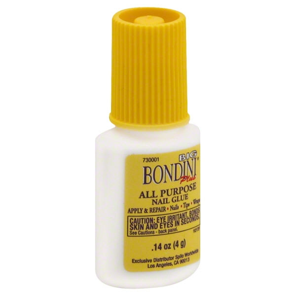 Big Bondini Plus 0.14oz All Purpose Fast Drying Nail Glue Adhesive, 1051