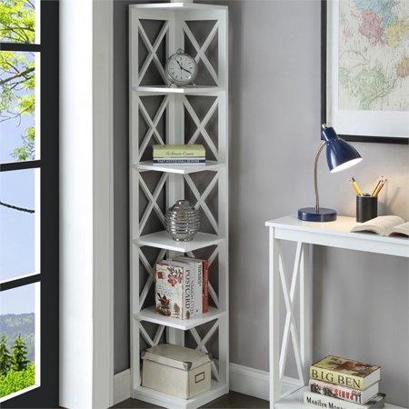Scranton & Co 5 Shelf Corner Bookcase in