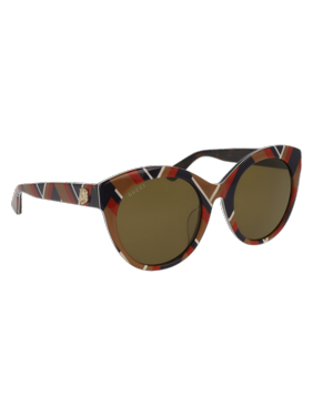 af952b4cd8d6 Product Image GG0028SA-008 Multicolor 54mm Gucci GG0028SA Sensual Romantic Cat  Eye Woman Sunglasses - Asian Fit