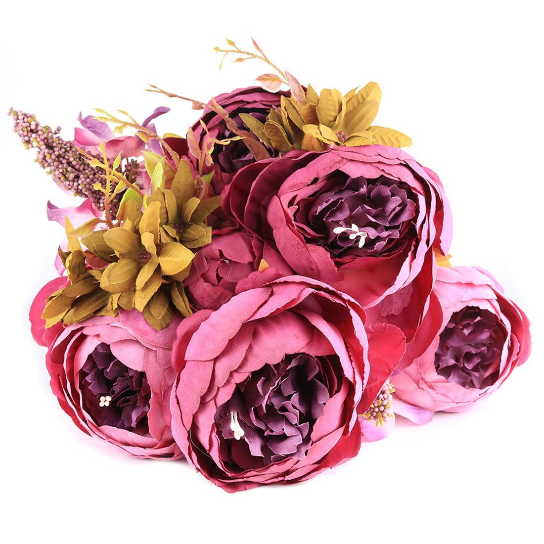Artificial Flowersartificial Peony Silk Flowers Bouquet Wedding