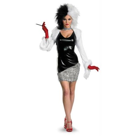 Cruella Deville Costumes (MorrisCostumes DG27214B Sassy Cruella,)