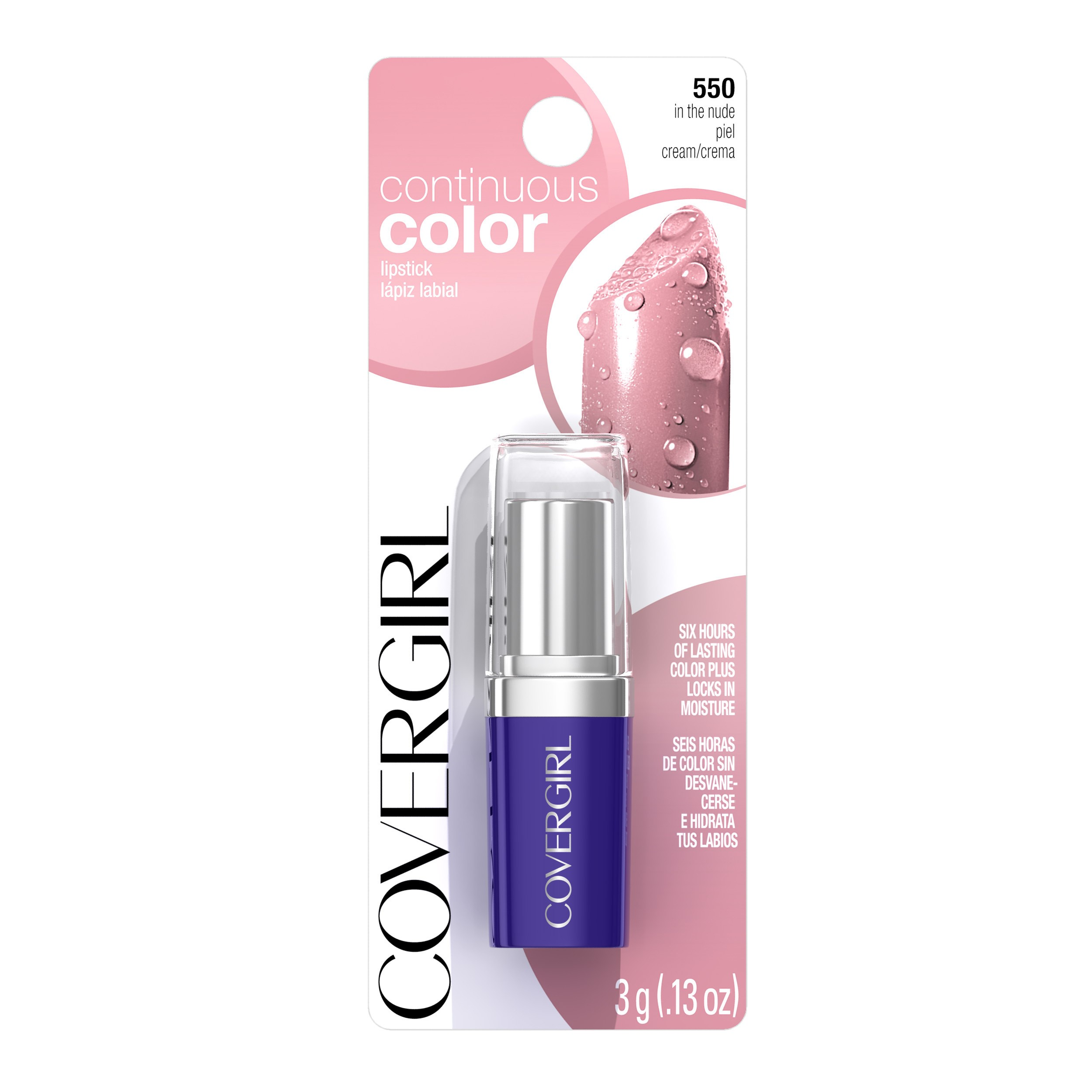 COVERGIRL Continuous Color Lipstick, In the Nude