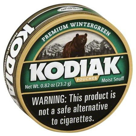 Grizzly Kodiak Wintergreen Pouch Can - Walmart com