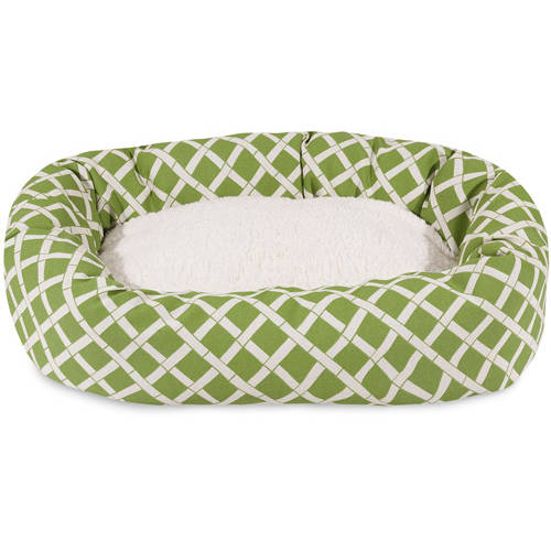 "Majestic Pet 40"" Bamboo Sherpa Bagel Bed Removable Cover"
