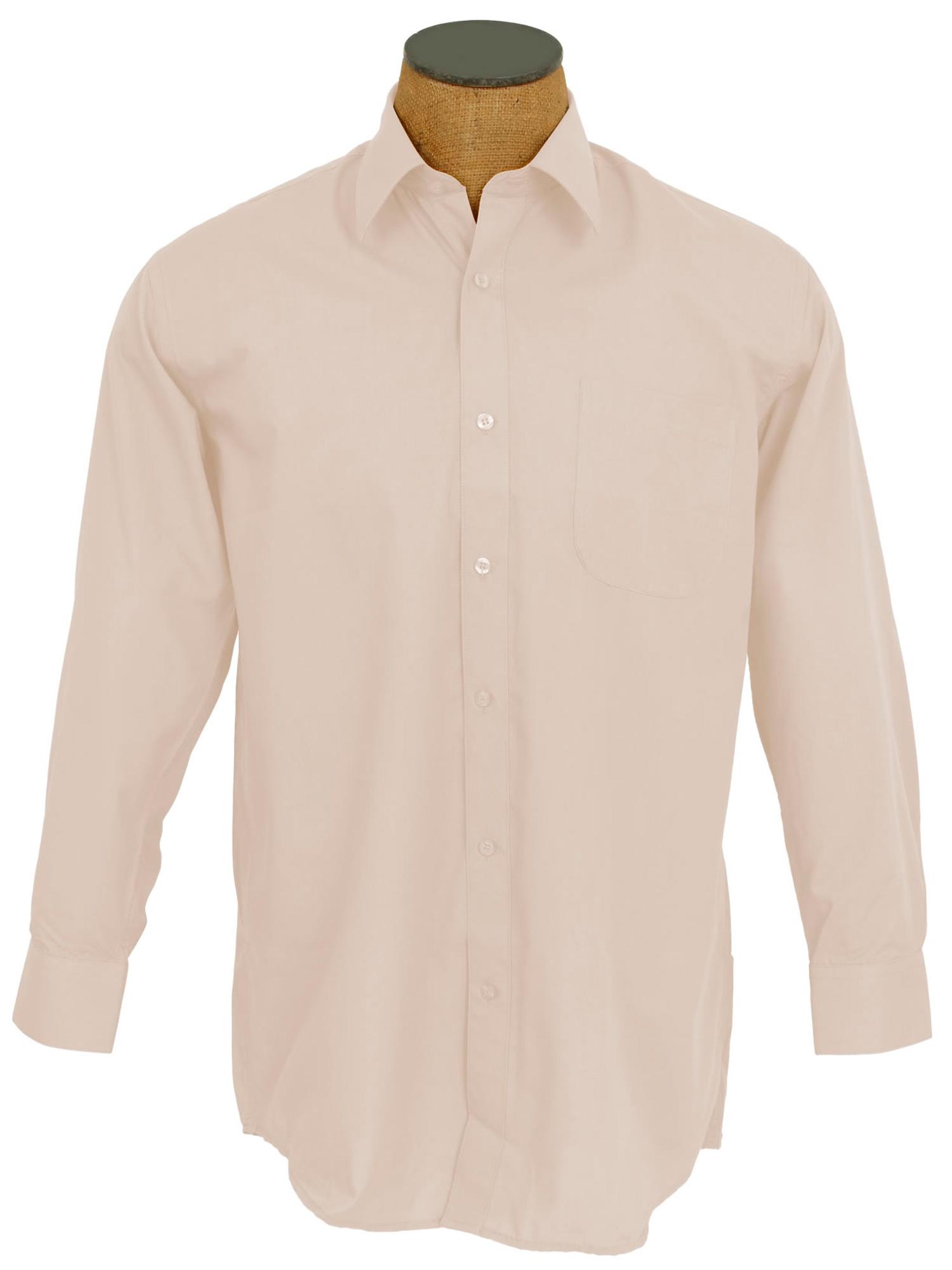 Men's Solid Color Cotton Blend Dress Shirt