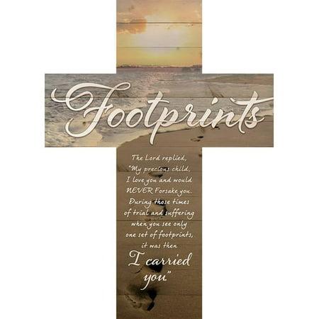August Grove Cross Footprints Wall D (Footprints Cross)