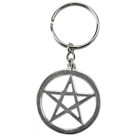 Women Accessories Keychain Pentagram Star Five Point Power Encircled