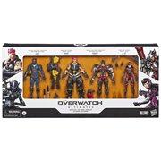 Overwatch Carbon Series Genji, Zarya, Pharah & D. Va Action Figure 4-Pack