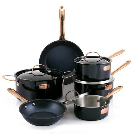 Cooks Club Memphis Black 10 Piece Cookware Set