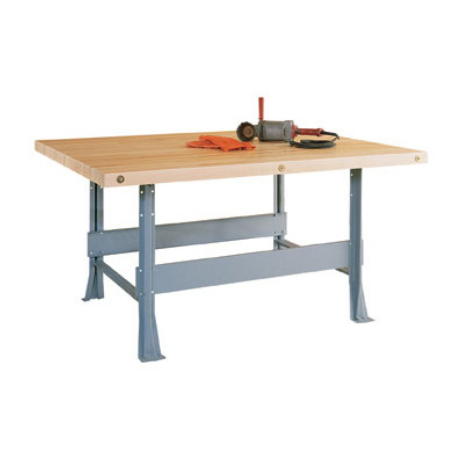 Diversified Woodcrafts Two Station Steel Workbench by Diversified Woodcraft Inc
