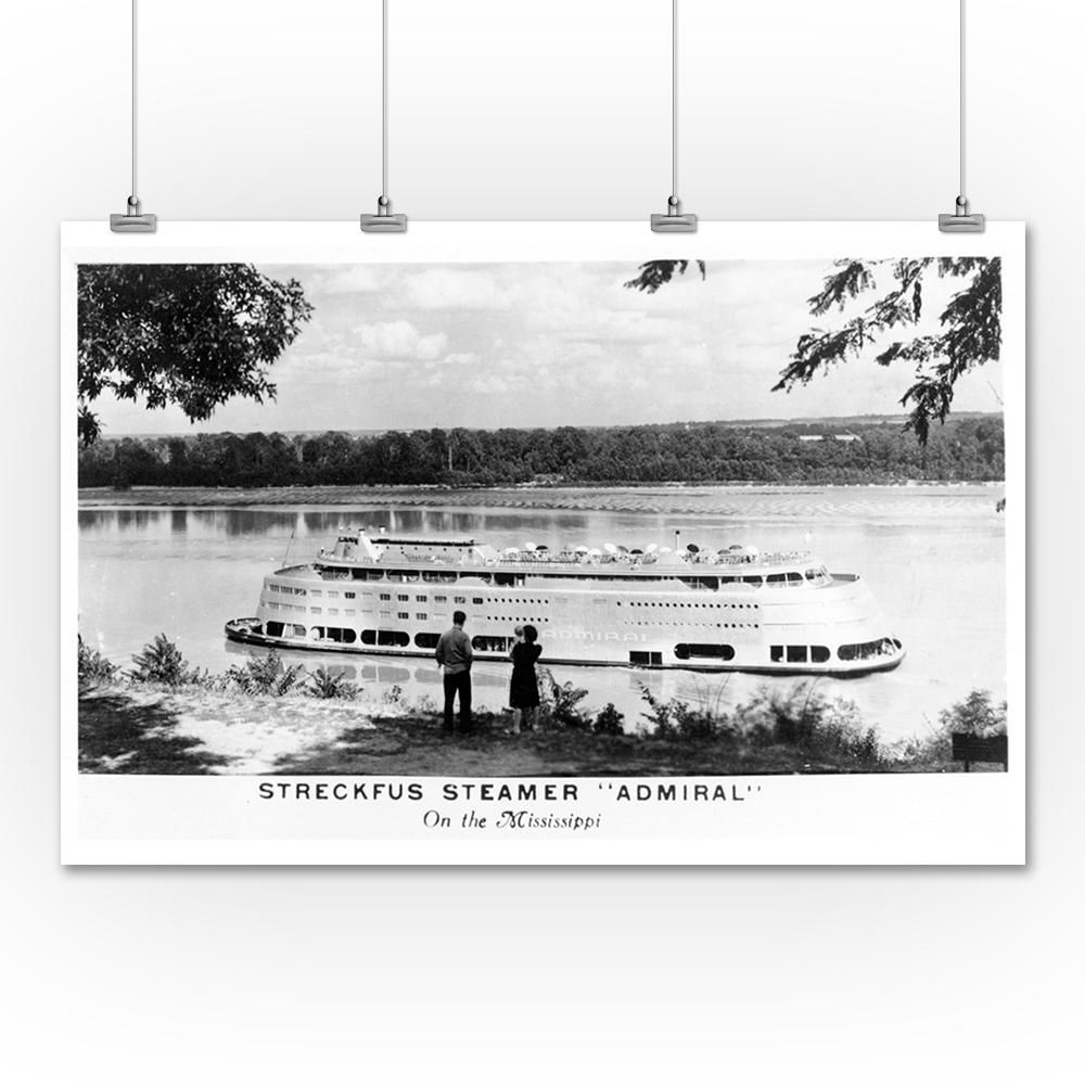 Lantern Press Streckfus Steamer Admiral on the Mississipp...