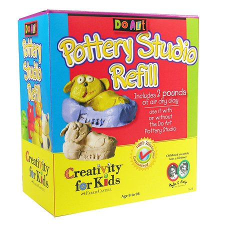 Creativity For Kids Do Art   Pottery Studio Refill  Includes 2 Pounds Of Air Dry Clay By Faber Castell