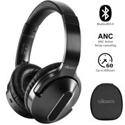 Active Noise Cancelling Headphones, Wireless Over Ear Bluetooth Headphones with 30H Playtime, Hi-Res Audio, Deep Bass, Memory Foam Ear Cups and Headband for Travel, Work, Black