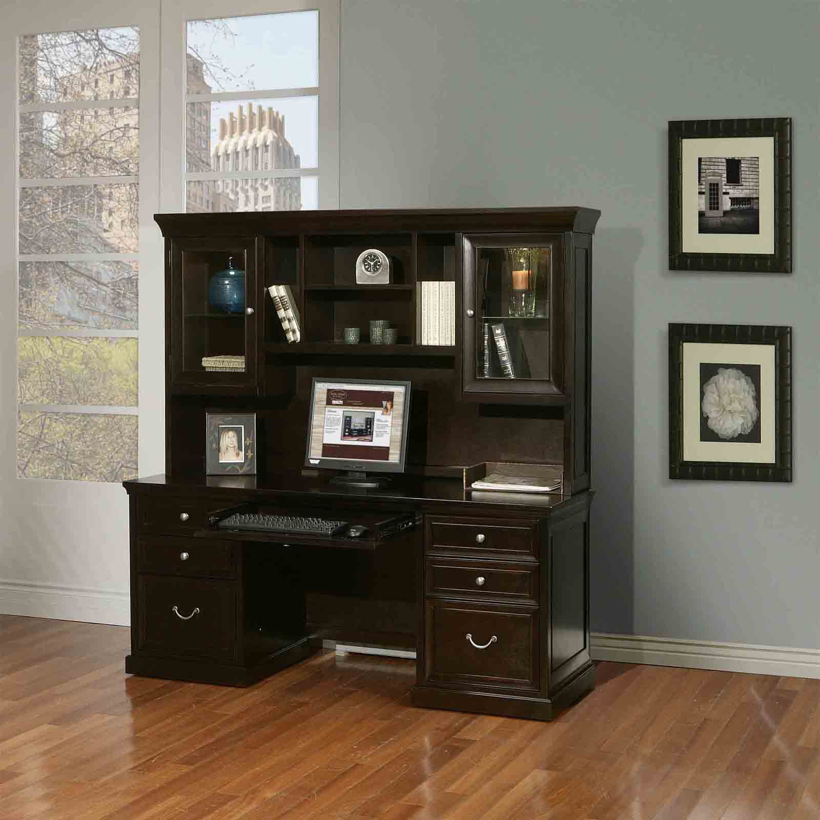 Martin Furniture Fulton Computer Desk With Optional Hutch