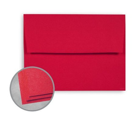 A7 Red / Christmas Envelopes - Astrobrights Re-entry Red (5 1/4 X 7 1/4) 25 Per Pack - Red Envelopes