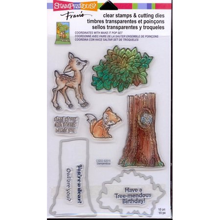 - Clear Stamps & Cutting Dies - In The Woods By STAMPENDOUS