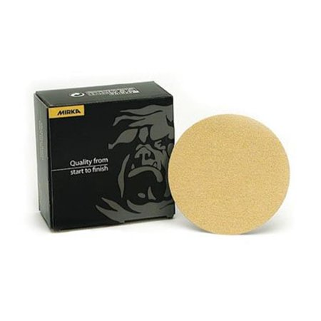 Mirka MA23.612.120 5 in. x NH Grip Disc D-wt Paper 120G, Gold