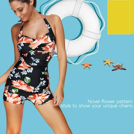 Women Swimwear,Yosoo Women One-piece Female Tankini Swimwear Ladies  Swimsuit for Swimming Pool Beach Sunbathing,Ladies Swimwear