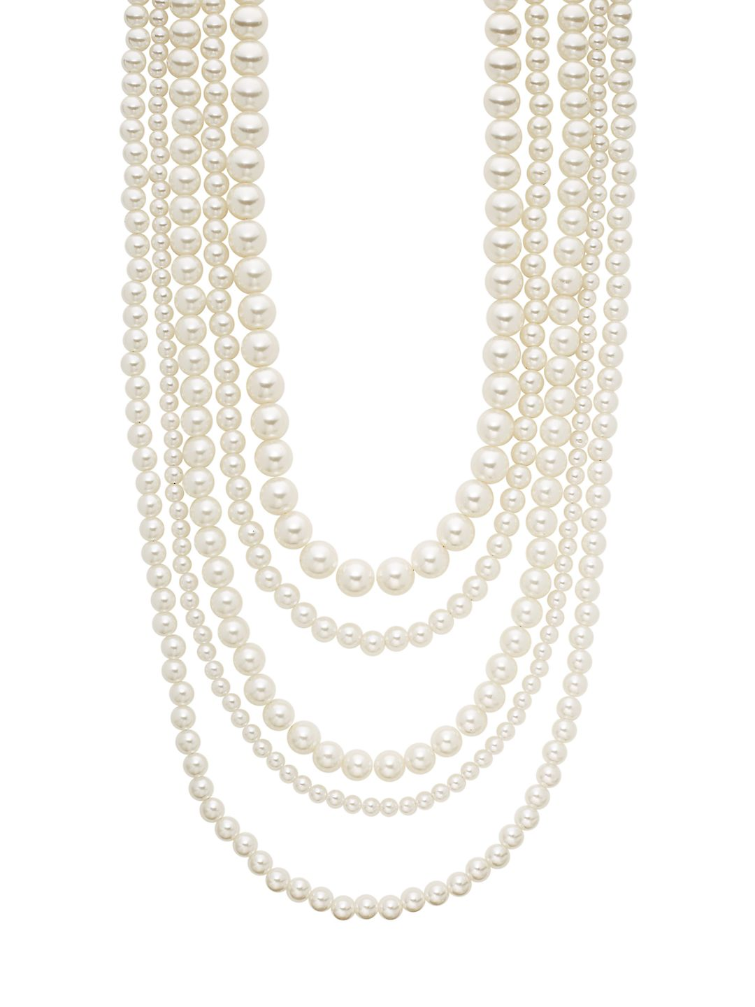 Five-Row Bead Strand Necklace