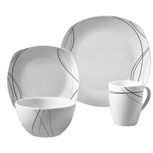 Tabletops Gallery Alec 16 Piece Dinnerware Set, Service For 4