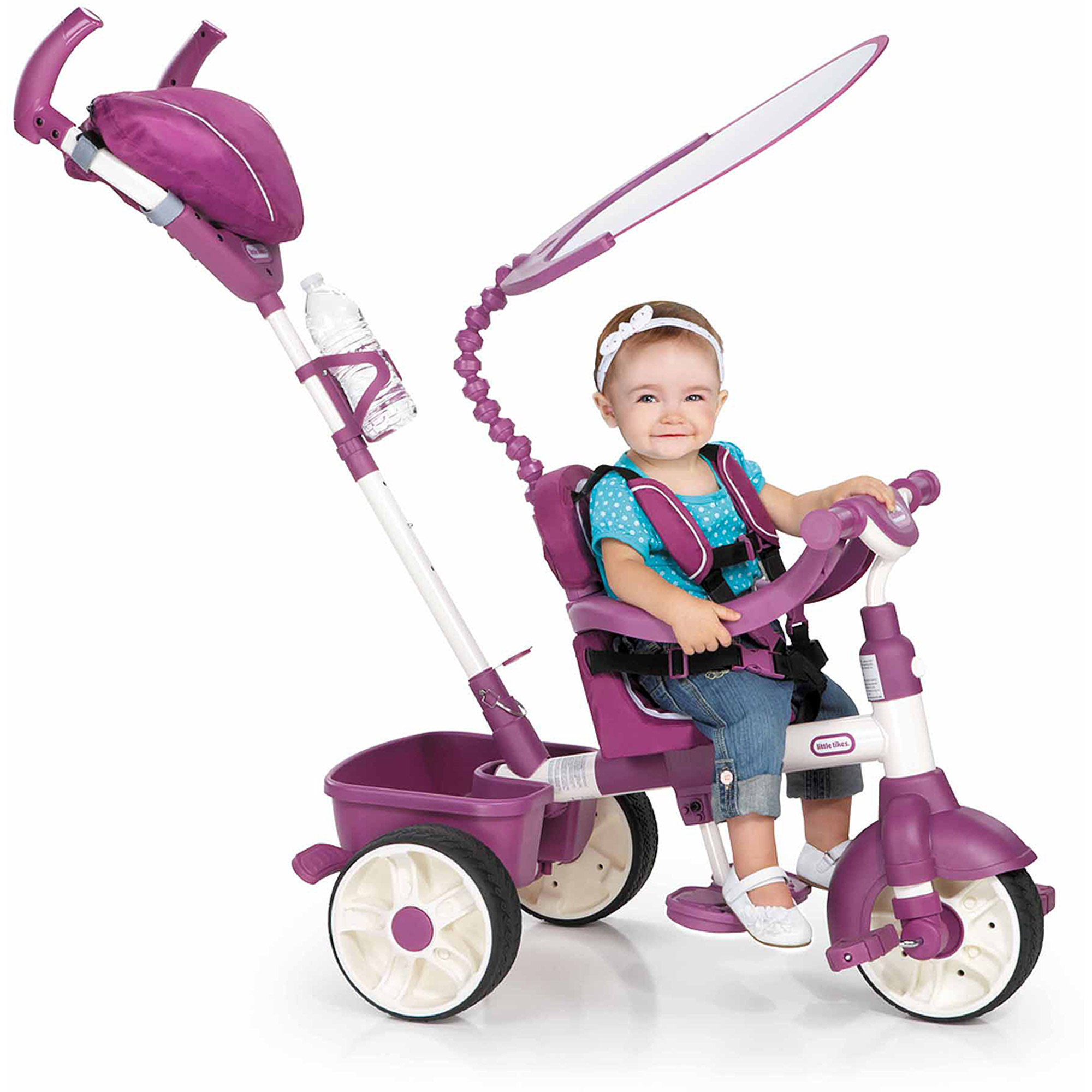 Little Tikes 4-in-1 Sports Edition Trike, Pink/White