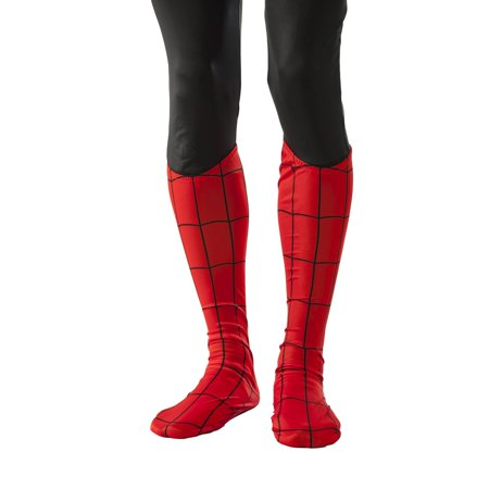 Adult Halloween Costume Accessory Spiderman Marvel Universe Boot Tops - Spiderman Halloween Makeup Tutorial