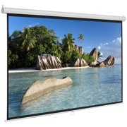 "Home Theater Projector Movies Screen 84'' Clearance, 16:9 HD Anti-crease Projector Screen, Manual Pull-down 73.2"" x 41.2"" Foldable Outdoor Projector Screen, for Home, Office, Public Display, S5635"