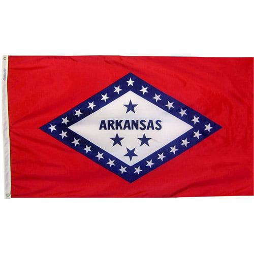 Arkansas State Flag, 3' x 5', Nylon SolarGuard Nyl-Glo, Model# 140360