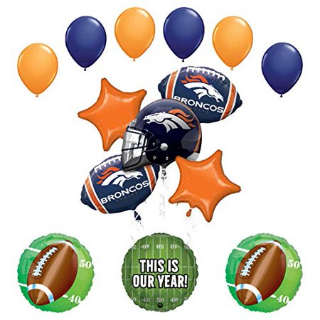 Mayflower Products Broncos Football Party Supplies This is Our Year Balloon Bouquet Decoration
