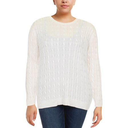 Lauren Ralph Lauren Womens Crew Cable Knit Pullover Sweater
