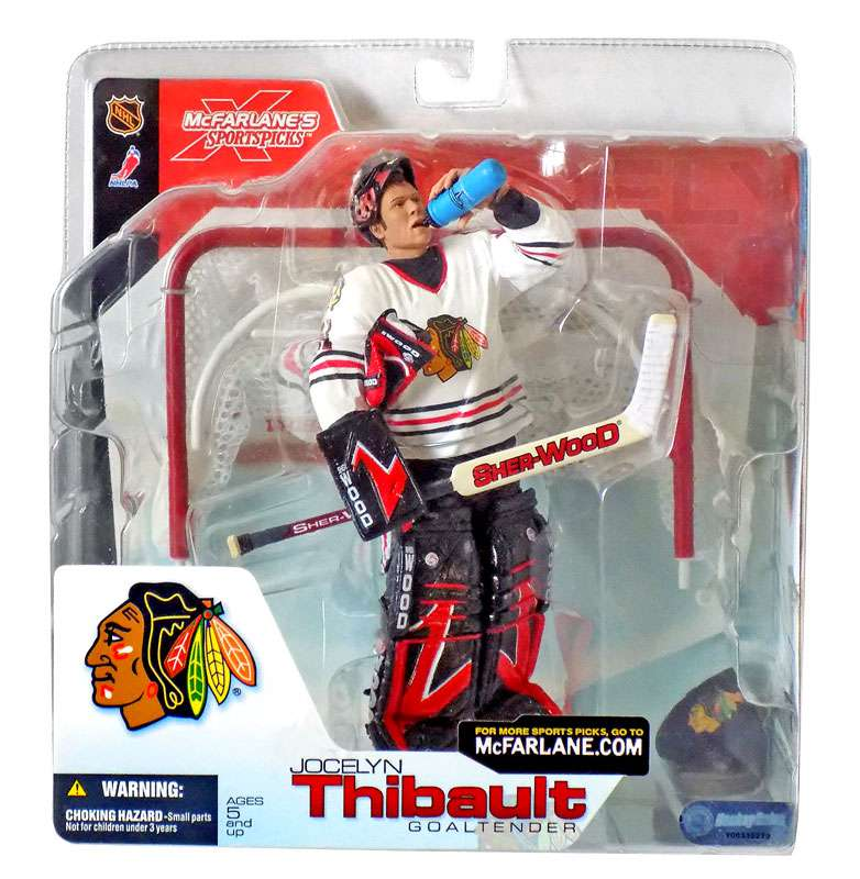 Jocelyn Thibault Action Figure White Jersey Sports Picks Series 4 NHL