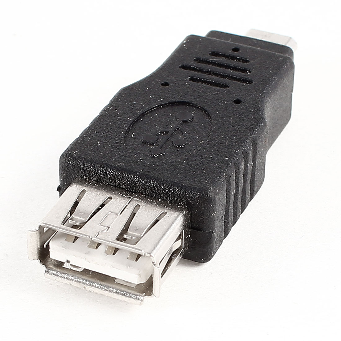 USB 2.0 Type A Female to Micro B Male F/M Jack Adapter Converter Black