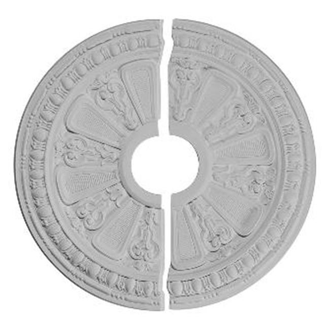 Ekena Millwork CM17RA2 17.62 in. OD x 3.62 in. ID x .88 in. P Architectural Accents - Raymond Ceiling Medallion, Two Piece