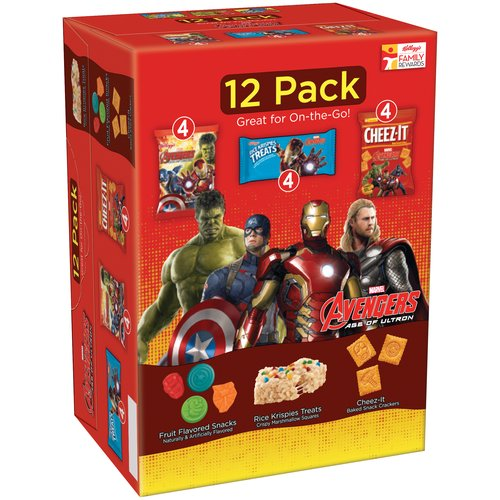 Kellogg's Marvel Avengers Age of Ultron Snack Variety Pack 12ct 10.4oz