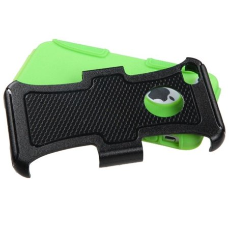 Insten Natural Black Electric Green Frosted Fusion Protector Case For APPLE iPhone 4 4S