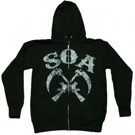 Sons of Anarchy Crossed Sickles Full Zip Hoodie Sweatshirt