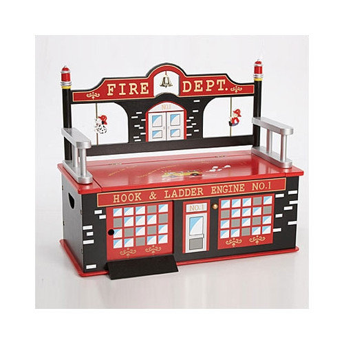 Levels of Discovery Firefighter Kid's Storage Bench