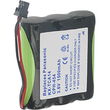 1500mah Nimh Cordless Phone Battery (Replacement Panasonic KX-T6200B NiMH Cordless Phone Battery - 1500mAh / 3.6v )