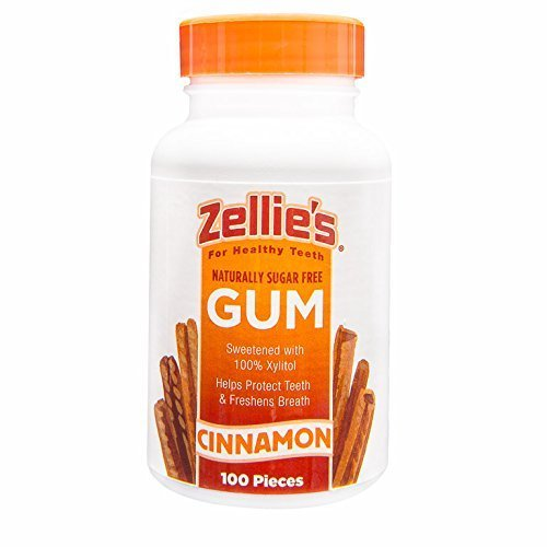 5 Pack Zellies Cinnamon Gum Naturally Sugar Free Xylitol ...