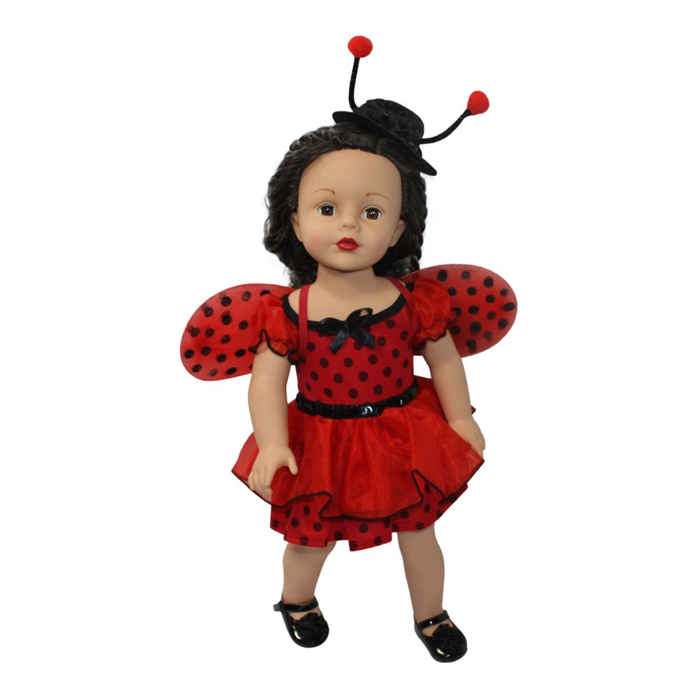Arianna LadyBug Costume Fits Most 18 inch Dolls