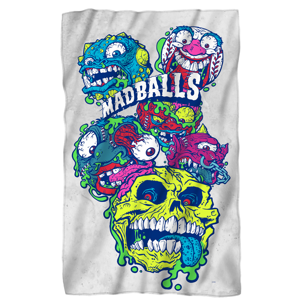 Madballs Squished Fleece Blanket White 48X80