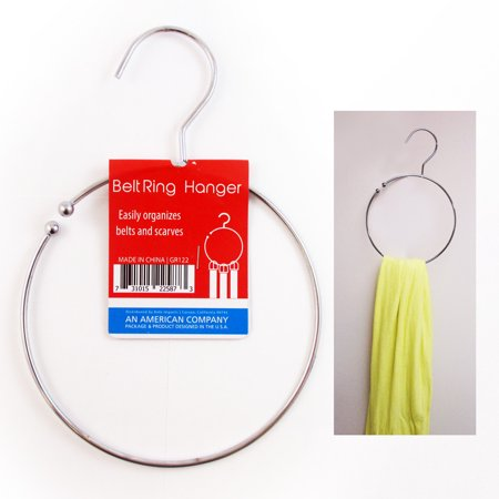 Metal Heavy Duty Hangers (1 Belt Ring Hanger Heavy Duty Dipped Metal Towel Tie Scarf Belt Loop Holder )