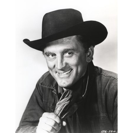 Kirk Douglas smiling in Cowboy Outfit Photo Print