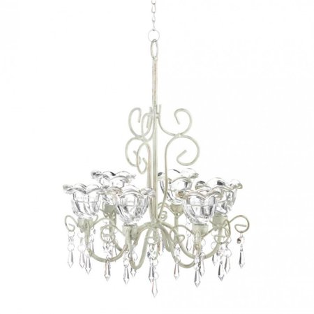 CRYSTAL BLOOMS CANDLE CHANDELIER (3 Light Petite Chandelier)