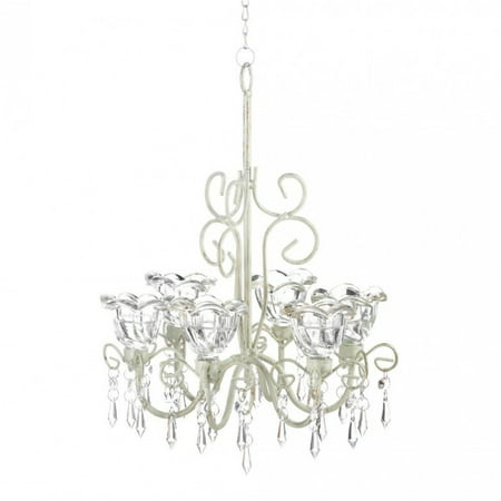- CRYSTAL BLOOMS CANDLE CHANDELIER